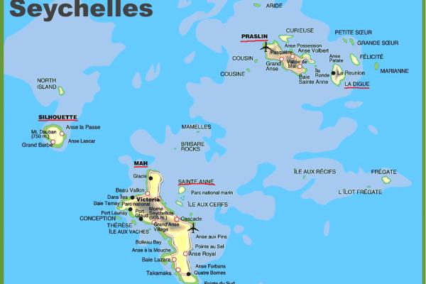 Seychellen Karte Afrika.Seychellen Reisen Seychellen Rundreisen Thoba Reisen