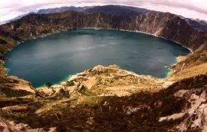 South America; Ecuador; Quilotoa crater south of Quito